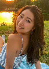 Nancy Zhang, smiling, outdoor and nature